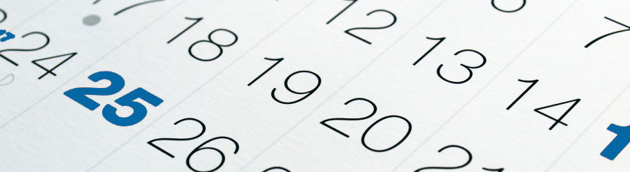 slide calendari blu